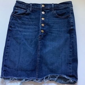 J Brand button up Jean Skirt with raw hem size 26